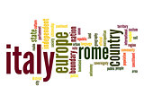 Italy word cloud
