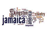 Jamaica word cloud