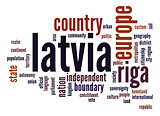 Latvia word cloud