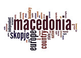 Macedonia word cloud