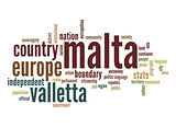 Malta word cloud