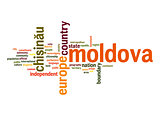 Moldova word cloud