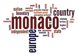 Monaco word cloud