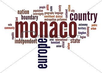 Monaco word cloud