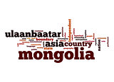 Mongolia word cloud