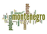 Montenegro word cloud
