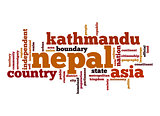 Nepal word cloud
