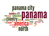 Panama word cloud