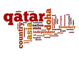 Qatar word cloud