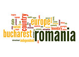 Romania word cloud