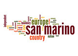 San Marino word cloud