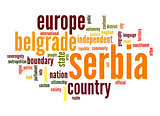 Serbia word cloud