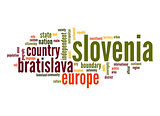 Slovenia word cloud
