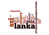 Sri Lanka word cloud