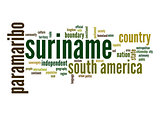 Suriname word cloud