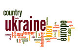 Ukraine word cloud