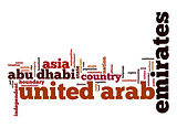 United Arab Emirates word cloud