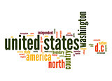 United States word cloud