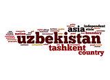 Uzbekistan word cloud