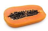 Half of papaya fruit