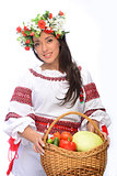 girl in Ukrainian costume