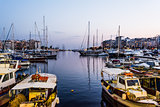 Piraeus Marina port in the night