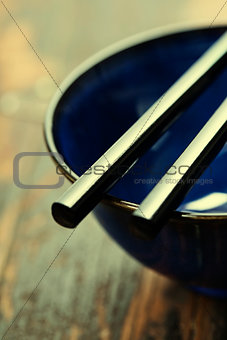 asian style bowl and chopstick