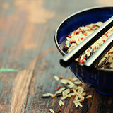 wild rice in ceramic bowl