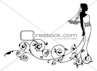 Bride wedding fashion silhouette