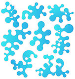 Set bluel figures stylized puzzle