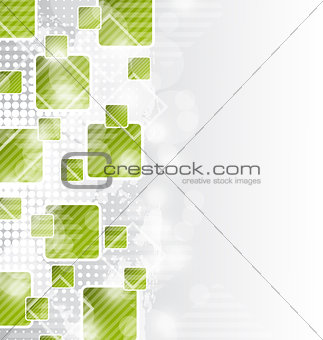 Abstract brochure with squares for design business card