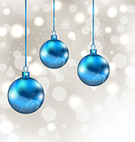Background with snowflakes and Christmas balls