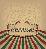 Vintage card with advertising header for carnival