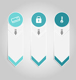 Modern design infographics element template paper tags