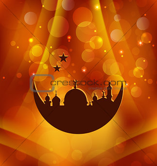 Greeting card template for Ramadan Kareem