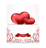 Valentine's day letter with hearts
