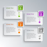 Info graphic options design template