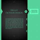 Blurred web design template