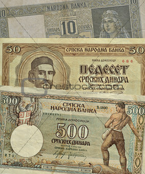 Old Serbian money