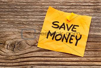 save money reminder note