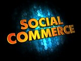 Social Commerce Concept on Digital Background.
