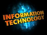 Information Technology on Digital Background.
