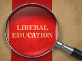 Liberal Education Concept - Magnifying Glass.