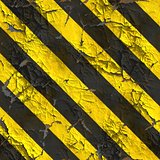 Seamless Texture of Warning Stripes Surface.