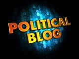 Political Blog Concept on Digital Background.