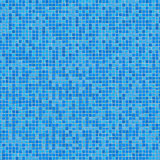 Blue Ceramic Mosaic. Seamless Tileable Texture.