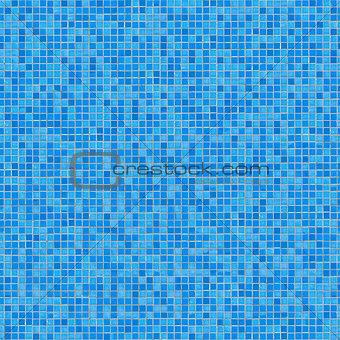 Blue Ceramic Mosaic. Seamless Tileable Texture.