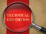 Technical Education Concept - Magnifying Glass.