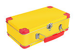 Yellow metal suitcase