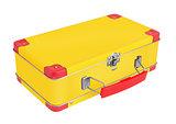 Yellow metal suitcase